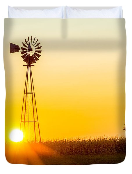 Aermotor Sunset Duvet Cover