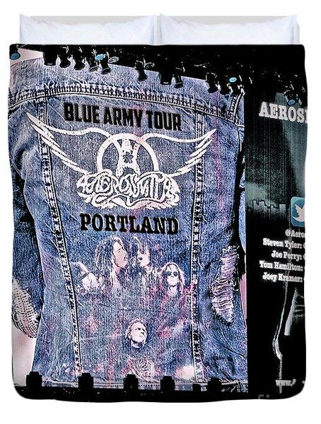 Aerosmith Blue Army Tour Portland Duvet Cover