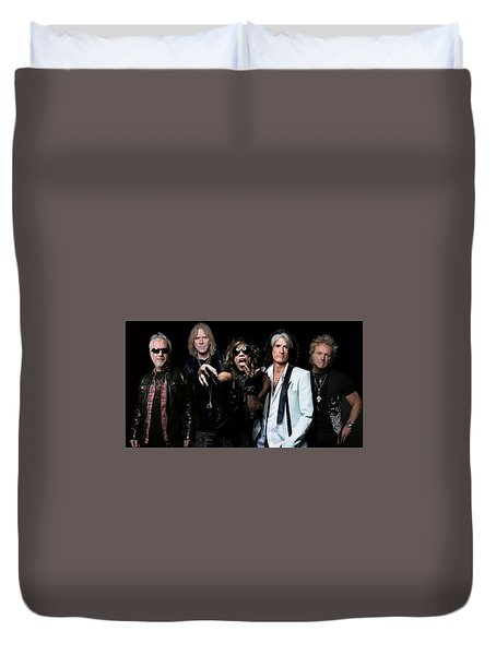 Duvet Cover featuring the photograph Aerosmith by Sean