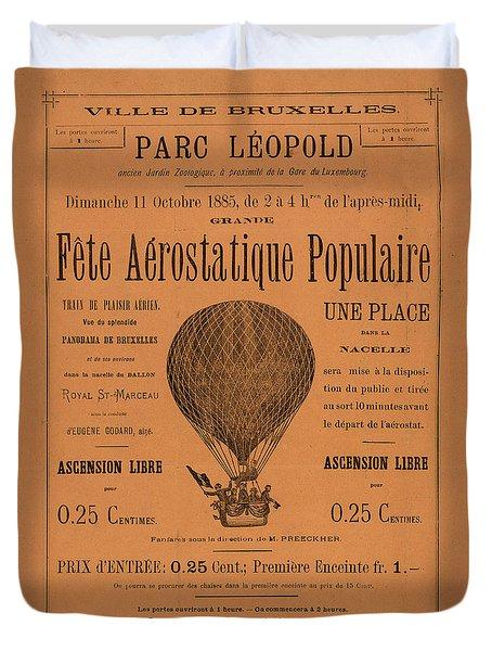 Aerostatique Populaire Duvet Cover