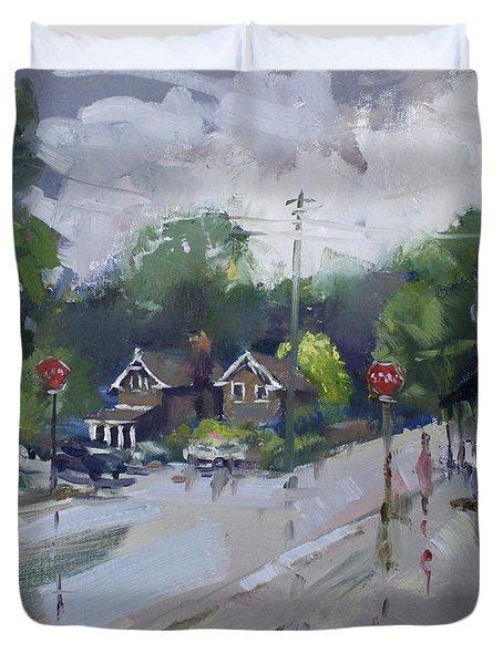 Afetr Rain At Glen Williams On Duvet Cover