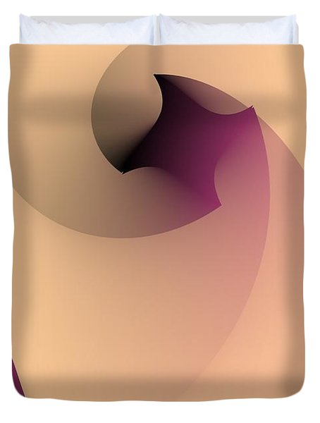 Duvet Cover featuring the digital art Affect by Leo Symon