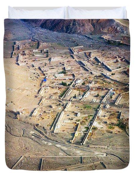 Afghan River Village Duvet Cover