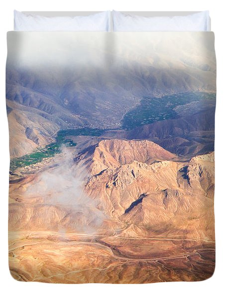 Afghan Valley At Sunrise Duvet Cover