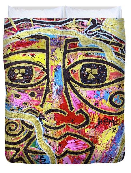 Africa Center Of The World Duvet Cover