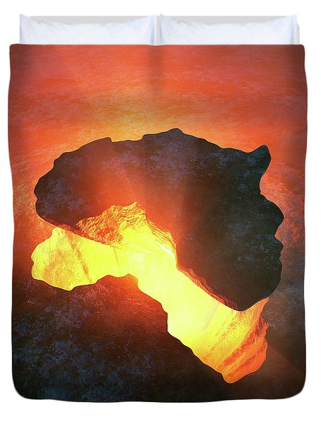 Africa Conceptual Design Duvet Cover