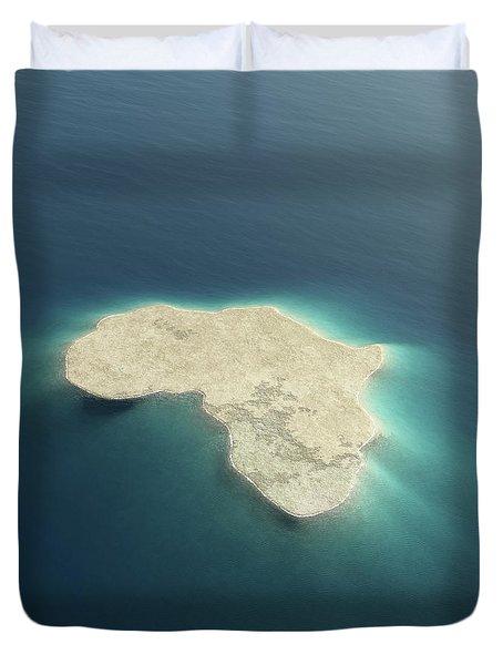 Africa Conceptual Island Design Duvet Cover