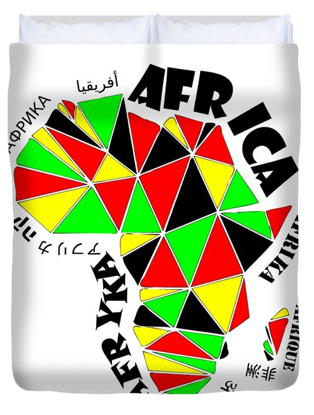 Africa Continent Duvet Cover