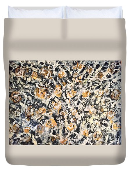 Duvet Cover featuring the painting Africa Iv by Fereshteh Stoecklein