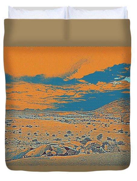Africa Landscape Duvet Cover