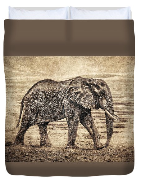 Africa Series - Elephant Duvet Cover by Brett Pfister