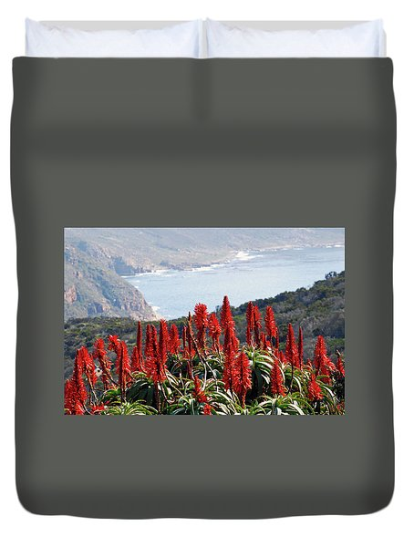 African Aloe And False Bay Duvet Cover