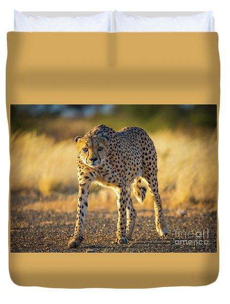 African Cheetah Duvet Cover by Inge Johnsson