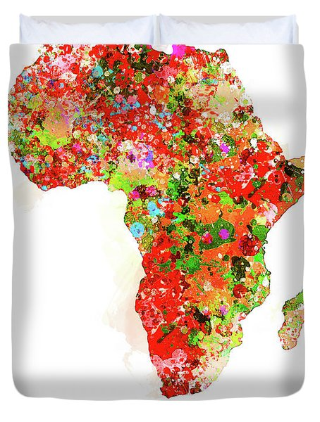 African Continent Duvet Cover