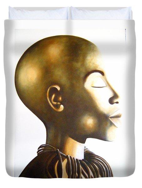 African Elegance Sepia - Original Artwork Duvet Cover