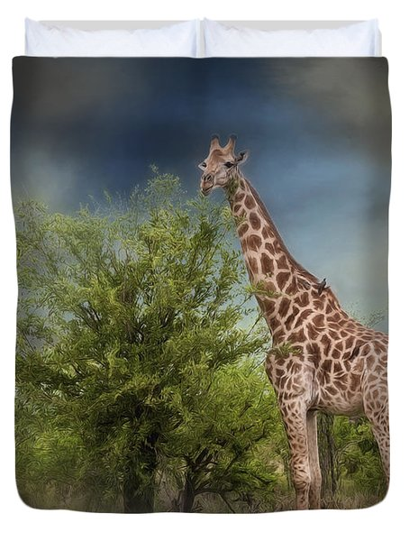 African Giraffe Duvet Cover