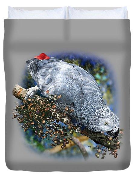 African Grey Parrot A1 Duvet Cover by Owen Bell