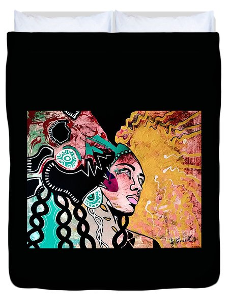 African Gypsy Duvet Cover by Amy Sorrell
