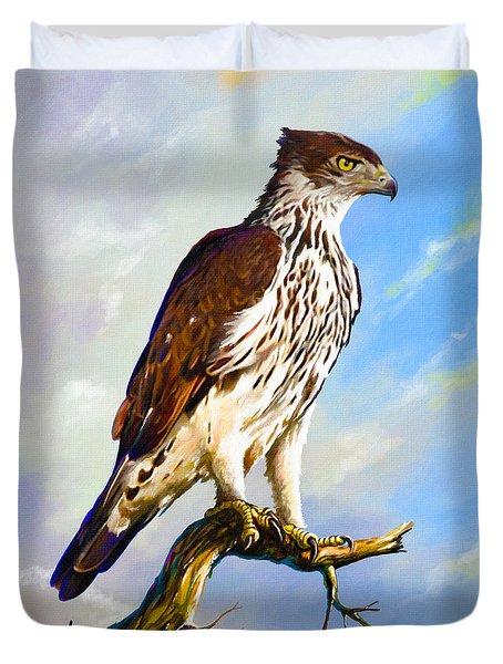 African Hawk Eagle Duvet Cover