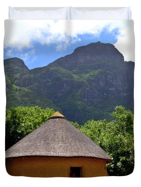 African Hut South Africa Duvet Cover
