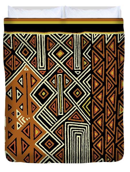 Duvet Cover featuring the digital art African Kuba View From Earth by Vagabond Folk Art - Virginia Vivier