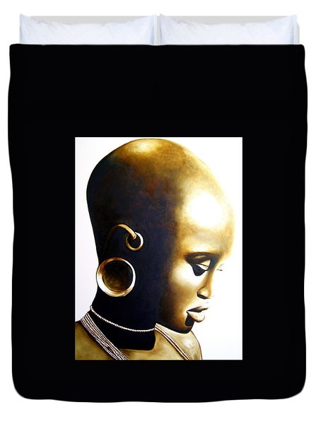 African Lady - Original Artwork Duvet Cover