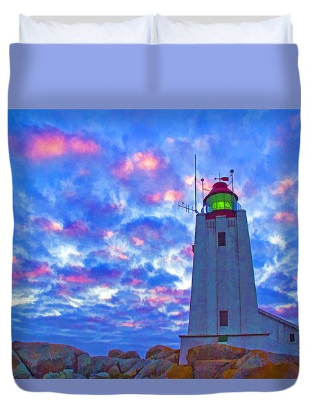 African Lighthouse Duvet Cover