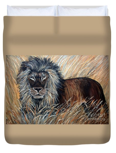 African Lion 2 Duvet Cover