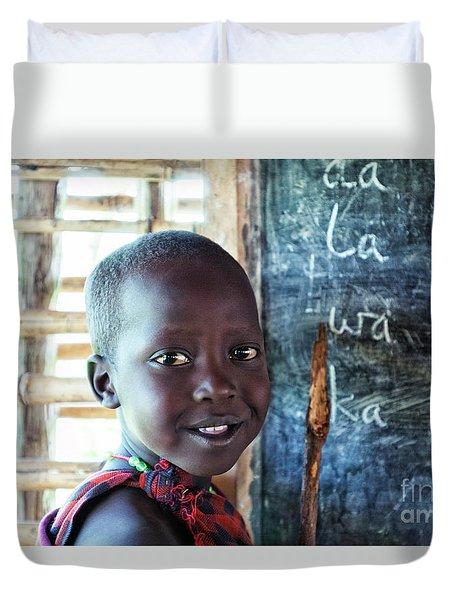 Maasai School Child Duvet Cover