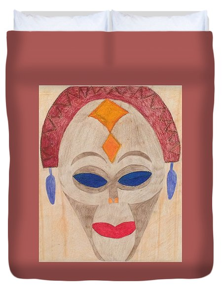 African Mask Duvet Cover
