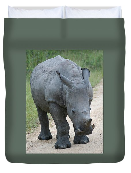 African Rhino Duvet Cover
