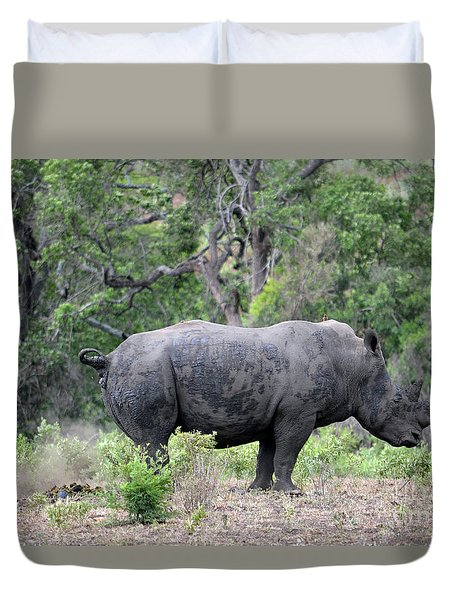 African Safari Naughty Rhino Duvet Cover