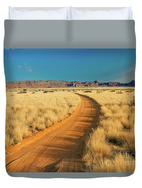 African Sand Road Duvet Cover
