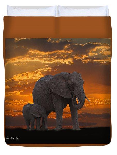 African Sunset-k Duvet Cover