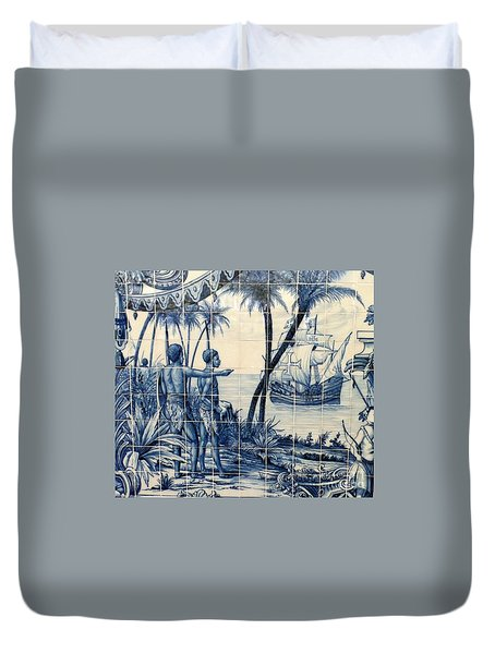 African Tile Art Duvet Cover