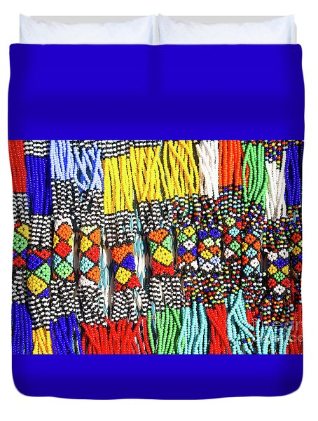 African Tribal Necklaces Duvet Cover
