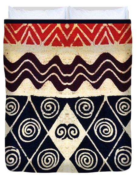 African Tribal Textile Design Duvet Cover