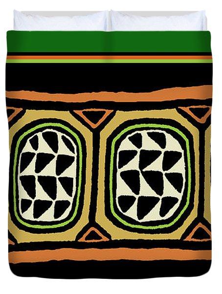 Duvet Cover featuring the digital art African Tribal Textile by Vagabond Folk Art - Virginia Vivier