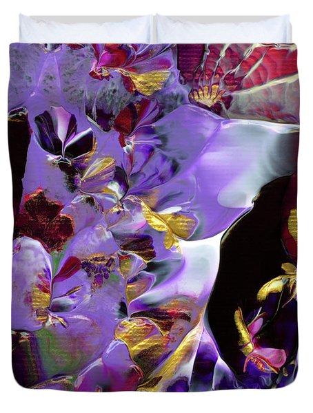 African Violet Awake #2 Duvet Cover