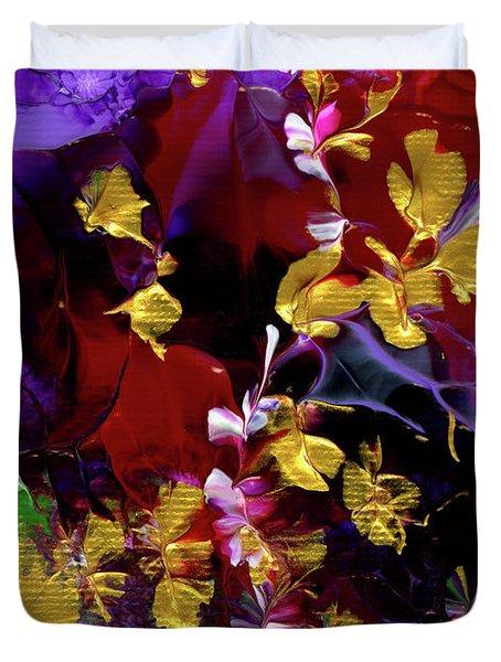 African Violet Awake #3 Duvet Cover