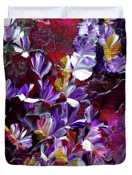 African Violet Awake #4 Duvet Cover