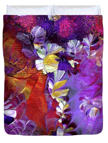 African Violet Awake #5 Duvet Cover