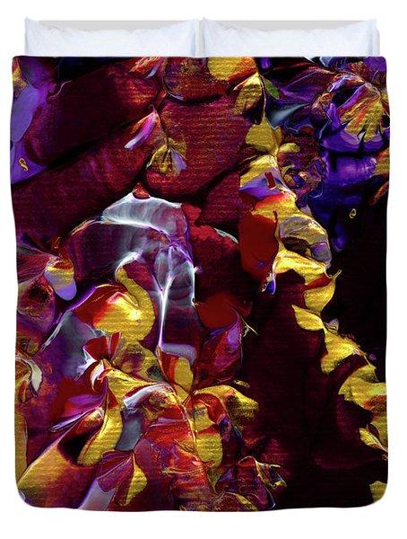 African Violet Awake Duvet Cover