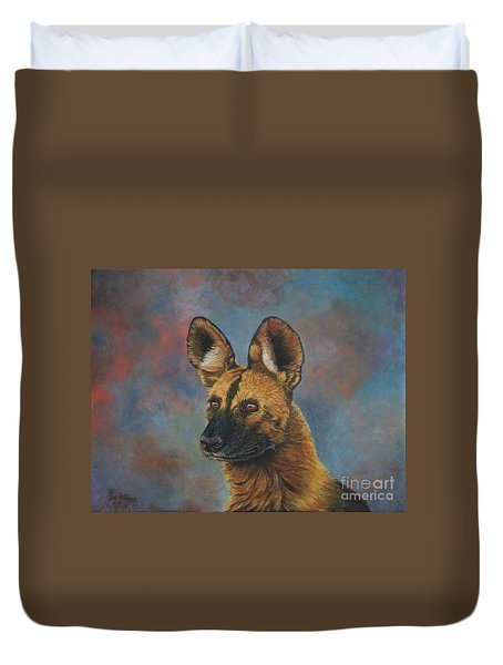 African Painted Wild Dog Duvet Cover