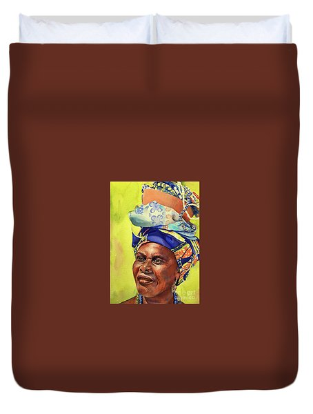 African Woman Duvet Cover
