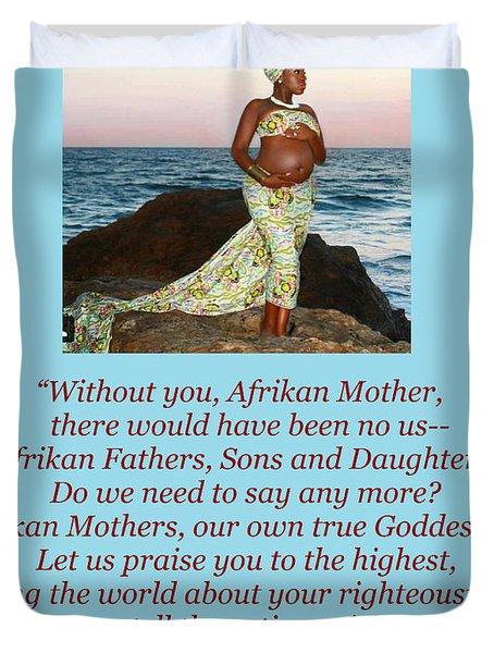 Afrikan Mother Duvet Cover
