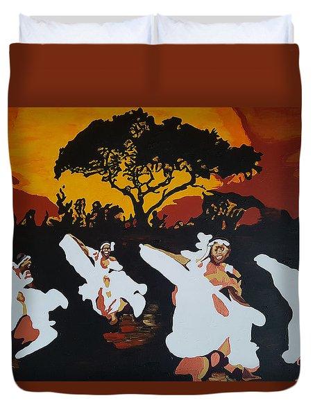 Afro Carib Dance Duvet Cover