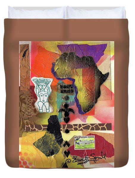 Afro Collage - G Duvet Cover