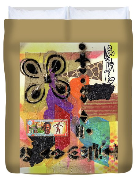Afro Collage - H Duvet Cover
