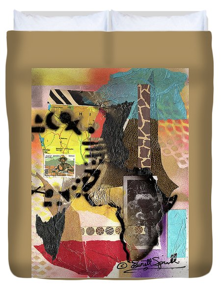Afro Collage - K Duvet Cover